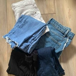 Shorts och jeans paket med en kjol för 100kr+frakt!