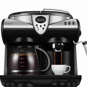 Ny espresso  barista Kaffebryggare Amerikansk / italiensk 2 smaker Espresso kaffemaskin Dubbelpumpar och pannor Cappuccino Latte Macchiato Mocha Mjölkskum  Nu i låda  Märke DONLIM  Köpt onlin  Kan fraktas DhL eller schenker