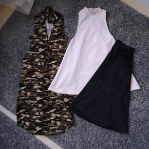 2 klänningar och en midjekjol! Stl S på allt och bra skick 😊 🌺Avhämtning prioriteras 🌱Om alla mina annonser köpes av samma blir det 500kr det är 22kr per plagg!! 🌱