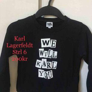 Karl Lagerfeldt collegetröja, storlek 6Y, mycket fint skick