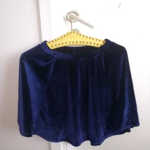 Blue velvet skirt !!!