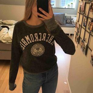 Supersnygg grå Abercrombie sweatshirt. Den är i fint skick, men använd. 120kr inkl frakt