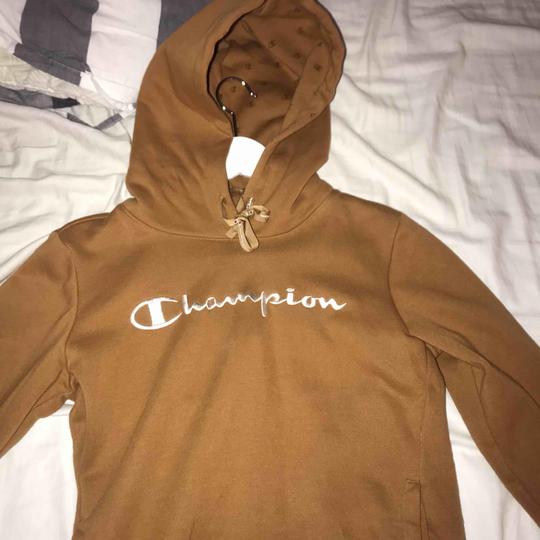 brun champion hoodie aldrig använd frakt på 70kr tillkommer 💕. Huvtröjor & Träningströjor.