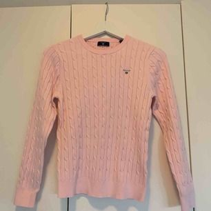 Rosa ribbstickad Gant tröja barnstorlek 170