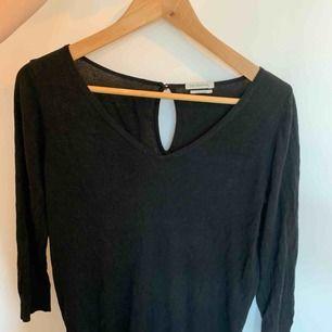 Jättefin svart tröja med en liten sten i nacken i storlek M. I fint begagnat skick. Skön nu på tidiga hösten då den inte är jättevarm