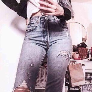 Levi's 501 jeans med slitningar. Använda en gång!