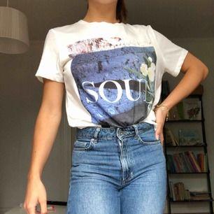 Säljer denna T-shirt från BikBok. Strl XS, 50kr, frakten kostar 63kr