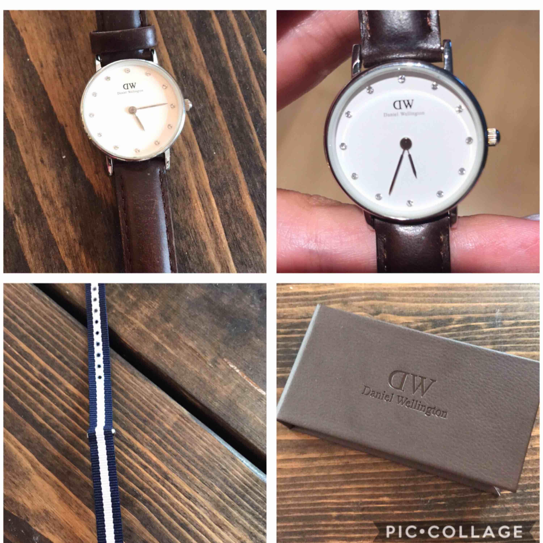 Sparsamt använd klocka från Daniel Wellington med ett extra utbytbart armband. Accessoarer.