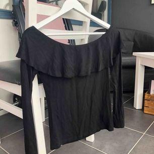 Super fin svart tröja ifrån Gina tricot, storlek S. Väldigt skönt och stretchigt material, använd ett antal gånger. Frakt tillkommer✨