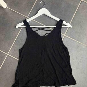 Snyggt, svart linne från H&M i storlek S. Skönt och stretchigt material och även en snygg öppning i ryggen. Frakt tillkommer