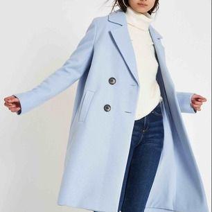 Baby blå kappa i strl 42 för höst vinter även vår