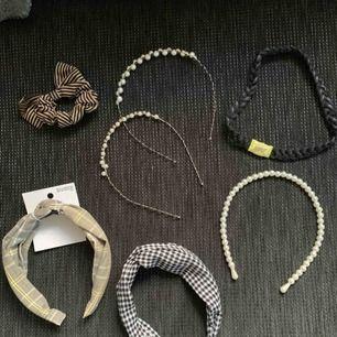 Hår accessoarer, ett hår band är helt nytt(tag kvar)  Alla för 120kr +frakt eller 1 för 25kr 🌾