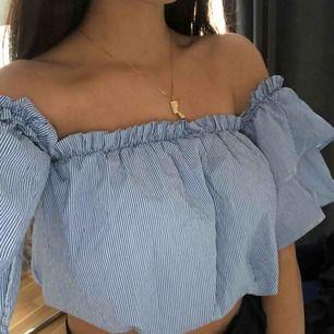 Cropped off shoulder blus från chiquelle. Använd ca 2 gånger. Köparen står för frakt:)