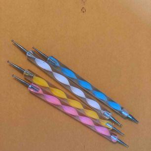 Nagel tools för att göra detaljer på naglar