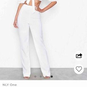 Superfina vita byxor från Nelly som tyvärr inte funkade på mig då dom är väldigt långa. Använt endast en gång när jag provade dom.
