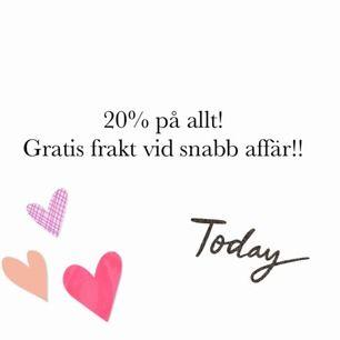 20% och gratis frakt!! 💞