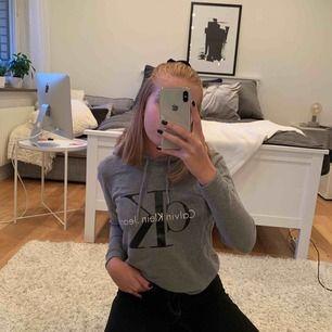 Grå Hoodie från Calvin Klein, använd en del men är inte synligt