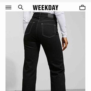 """Säljer mina jättefina jeans från weekday i modellen """"Row"""", som nya!"""