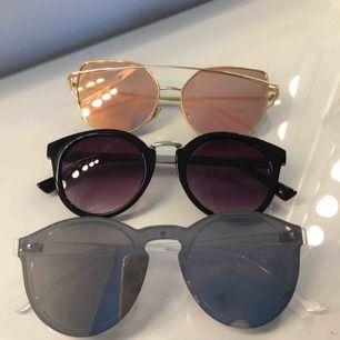 Säljer 3 par solglasögon för 40kr st + frakt, kommer från lite olika affärer bla Lindex.