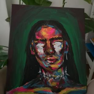 Egenmålad tavla,fråga gärna mer