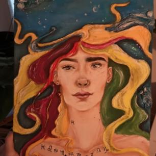 Egenmålad tavla från ett slutprojekt.