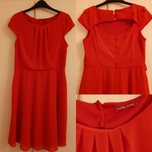 Red-Orange, cute dress, Good condition, used but occasionally