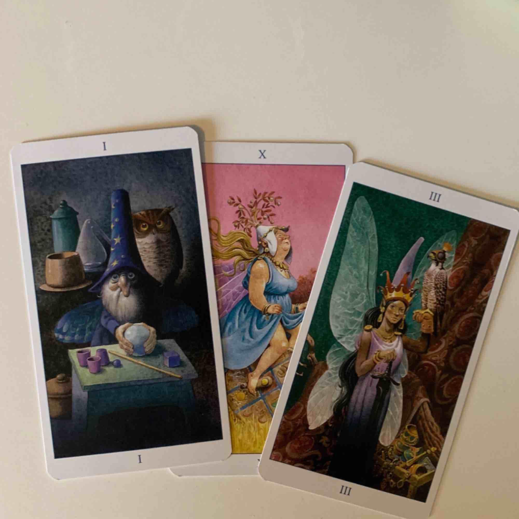 fairy tarot som är använd ca 5 ggr. säljer då korten är svårtolkade för mig. kan renas etc. pm för mer info!. Övrigt.