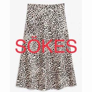 Söker den här kjolen från Monki i stl 34 eller 36!