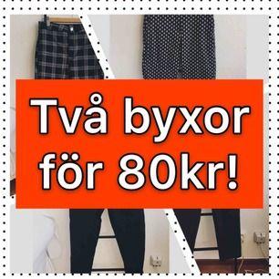 Just nu! Två byxor för 80kr! Finns i min profil. Möts helst upp i Stockholm!