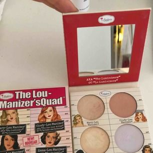 THE BALM highlight palette! Köpte den för 325 kr men använder inte highligter men använt lite. Den är dock riktigt bra!!!!
