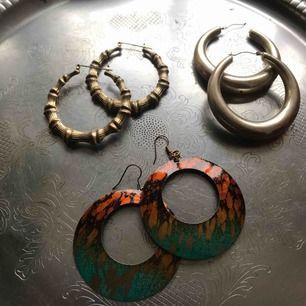 Vintage jewel. Olika örhängen.  3 par tillsammans
