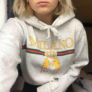En lite kortare hoodie från Bikbok i storlek s