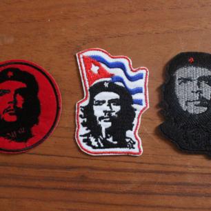 3 stycke tygmärke med Che Guevara på, 45kr för alla 3 inkl frakt!!