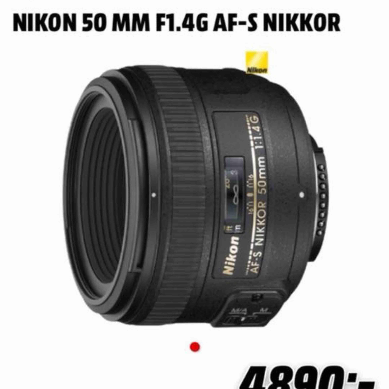 Oöppnad nikon 50mm 1,4 lens Helt ny Säljes pga felköp köpt för 4890kr . Övrigt.