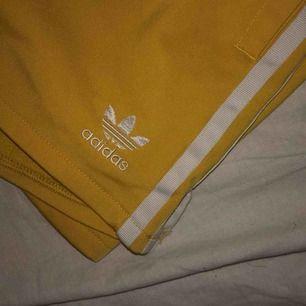 Gula shorts från Adidas i storlek M. Använt 2 gånger och säljer dom då de inte är min stil längre. Köpte för 299kr men säljer för 79kr!Fraktar men kan också mötas upp i Gbg 🥰