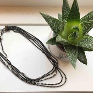 Supersnyggt svart halsband ifrån glitter!! Matcjar med örhängena som jag sålt innan. 100kr ink frakt (pris kan diskuteras)