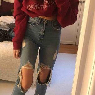 Så snygga slitna jeans som tyvärr inte kommer till användning, köpare står för frakt