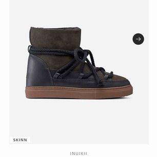 Nu säljer jag mina fina inuikii boots med inbygd klack. De köptes förra vintern i Helsingborg för 2500kr och har inte används mycket. Box och dustbag tillkommer. Kan mötas upp i skåne eller står köparen för frakt.