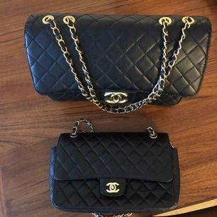 Chanel flap 30 cm 400 kr, chanel jumbo 200kr