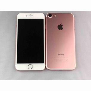 iPhone 7 roseguld 32GB. Ny telefon, helt oanvänd, säljes utan tillbehör pga försäkringspremie. Kvitto finns