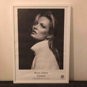 Kate Moss affisch. Glaset på ramen saknas 50x70