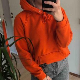 Slutsåld orange hoodie från bikbok. Tröjan har blivit nopprig men annars är den i mycket gott skick. Frakten ingår i priset 🤘🏼