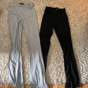 Två par yoga pants från lager 157, båda är oanvända! Storlek xs! Säljer för de är för små!  Bara gråa som finns kvar nu..   Frakt tillkommer