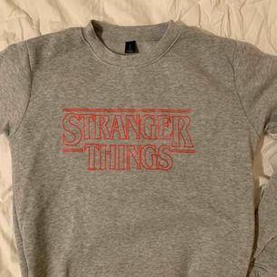 Cool Stranger Things tröja! Osäker på vart den är köpt men är i bra skick och riktigt mysig! Köparen står för frakt!