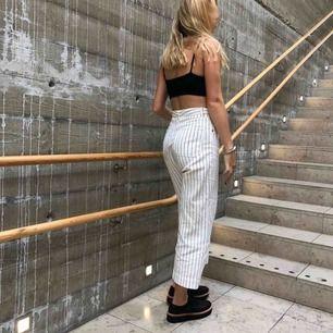 Striped wide legged jeans🖤