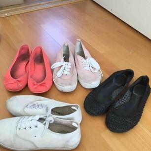 Slitna skor strl 36-37. 30 kr för alla.  Kan hämtas i Spånga/Vällingby eller så står köparen för frakt via Postnord.