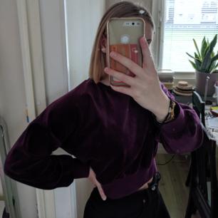 Knappt använd croppad tröja från bikbok i mörklila:))  sjukt mysig!