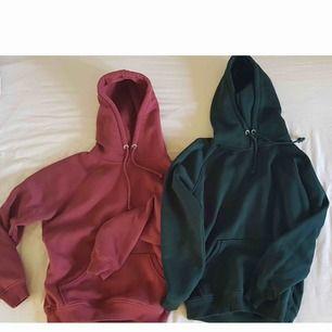 Två snygga hoodies från bikbok, dom kostar 200kr separat. Köparen står för frakten Den rosa/lila är mer rosa i verkligheten  Den gröna är såld
