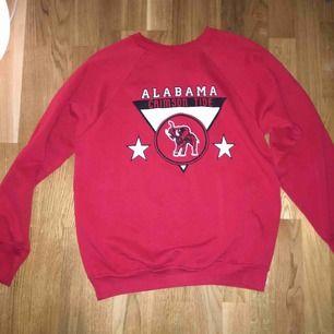 En röd vintage collegetröja i bra skick. Storleken står ej men den sitter som en M.