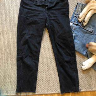 Straight cropped jeans i stl xs men funkar som 25